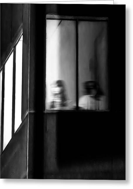 Pensive Greeting Cards - Five Windows Greeting Card by Bob Orsillo