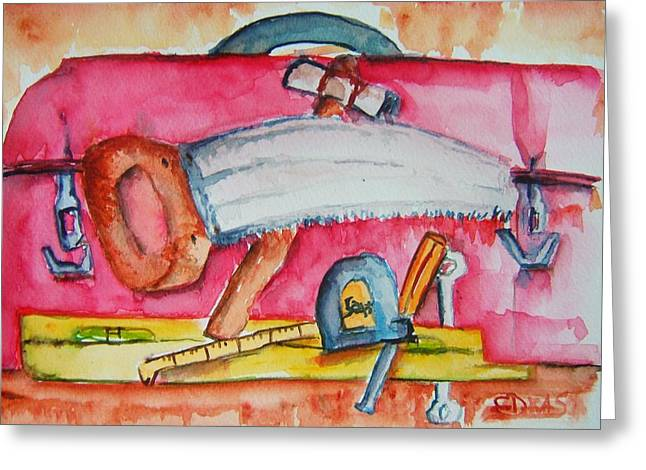 Fix And Finish It Greeting Card by Elaine Duras