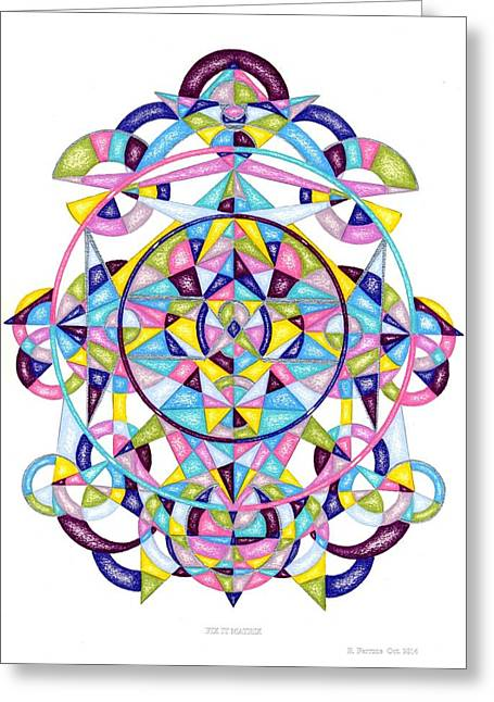 Sacred Drawings Greeting Cards - Fix It Matrix Greeting Card by Ruthie Ferrone