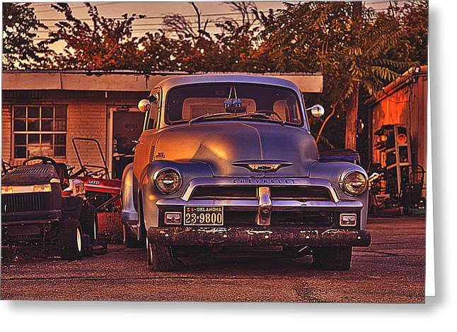 Blue Truck Greeting Cards - Fix Me Fred Greeting Card by Toni Hopper