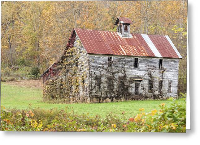 Fixer Upper Barn Greeting Card by Jo Ann Tomaselli