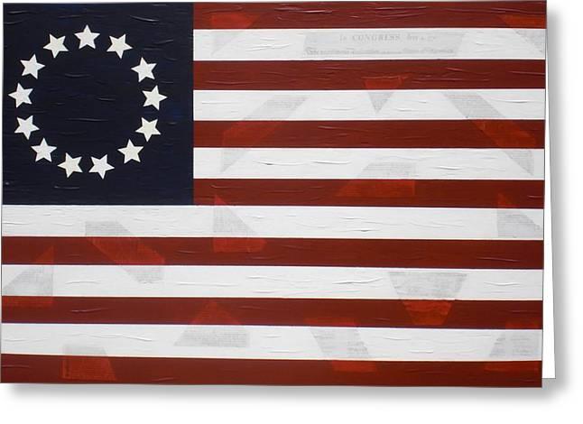Flag - Declaration Greeting Card by Kelvin Kelley