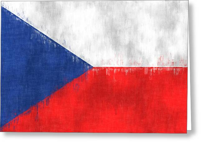 Flag Of Czech Republic Greeting Card by World Art Prints And Designs