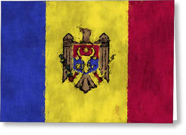 Flags Greeting Cards - Flag of Moldavia Greeting Card by World Art Prints And Designs