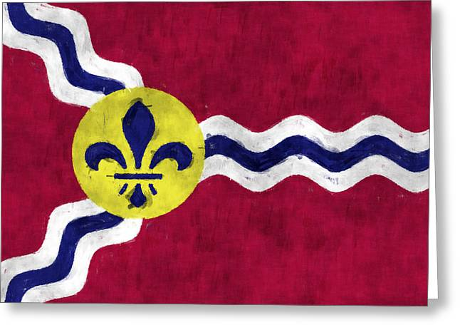 Flag Of Usa Greeting Cards - Flag of St.Louis Greeting Card by World Art Prints And Designs