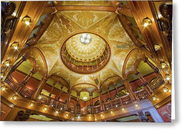Flagler Greeting Cards - Flagler College Rotunda Greeting Card by Rich Franco
