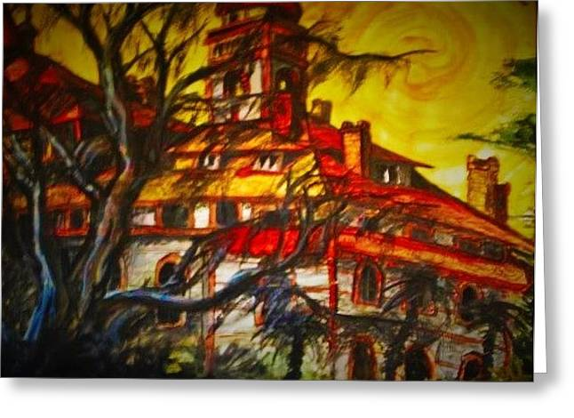 Haunted Schools Paintings Greeting Cards - Flagler Entangled Greeting Card by Alexandria Weaselwise Busen
