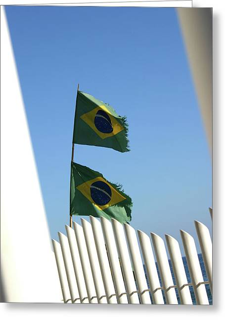 Frederico Borges Photographs Greeting Cards - Flags in the wind Greeting Card by Frederico Borges