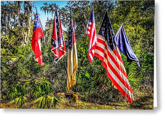 Confederate Flag Greeting Cards - Flags of 1860 Greeting Card by Chris Smith
