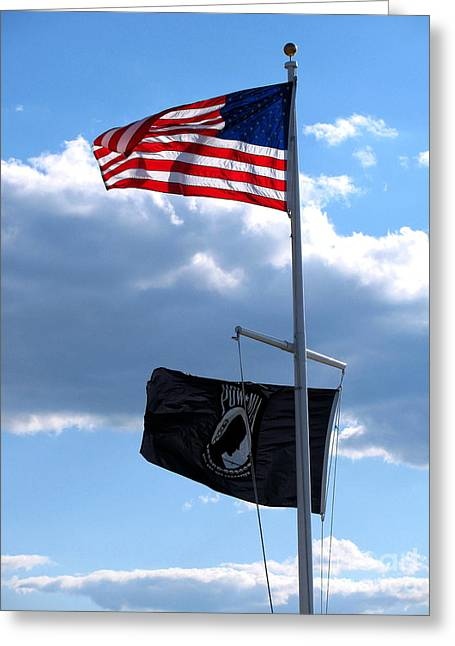 Flags Of The Brave Greeting Card by Colleen Kammerer