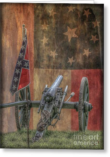 Civil Greeting Cards - Flags of the Confederacy Greeting Card by Randy Steele