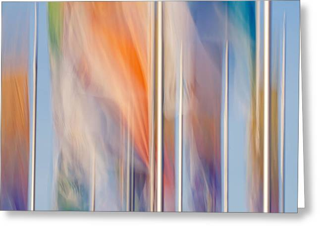 Himmel Greeting Cards - Flags Greeting Card by Uma Wirth