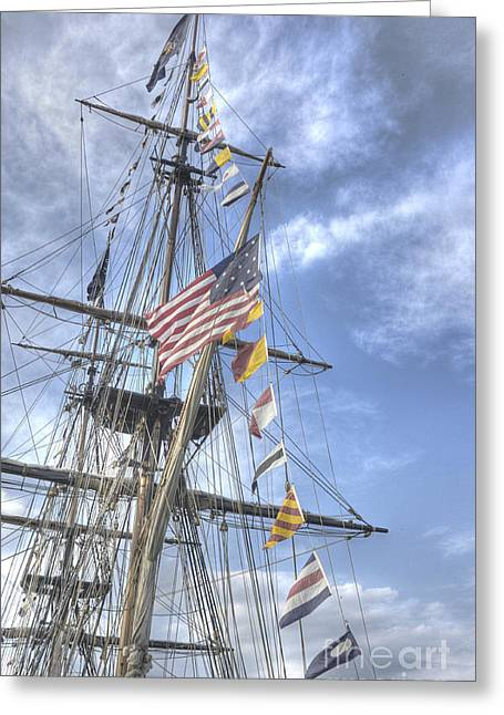 Flagship Niagara Greeting Card by David Bearden