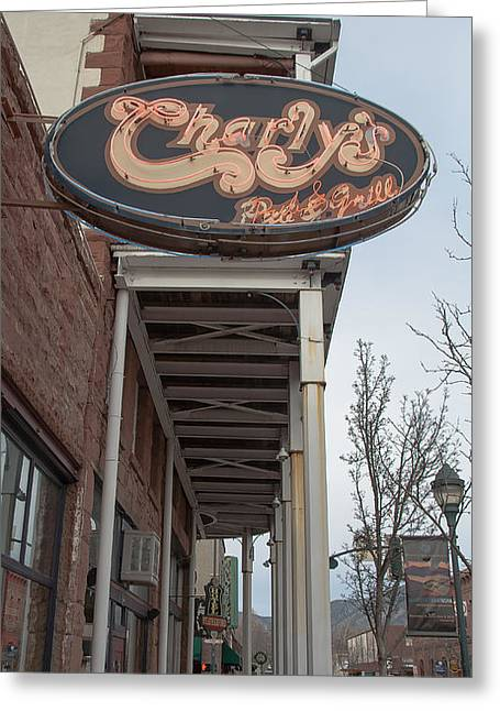 Charly Greeting Cards - Flagstaff Art Work Greeting Card by Steven Lapkin