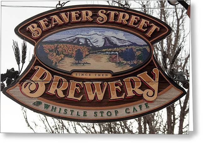 Flagstaff Brewery Greeting Card by Steven Lapkin