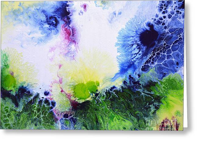 Abstract Greeting Cards - Flair for the Dramatic Greeting Card by Sally Trace
