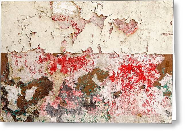 Havana Greeting Cards - Flaking paint abstract. Havana Cuba. Greeting Card by Rob Huntley