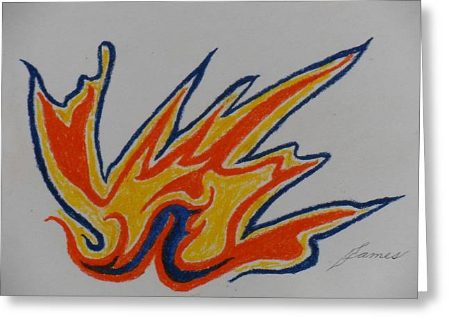 Gallery Pastels Greeting Cards - Flambeau Greeting Card by James Welch