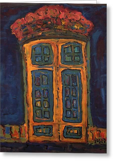 Flamboyant Door Greeting Card by Oscar Penalber