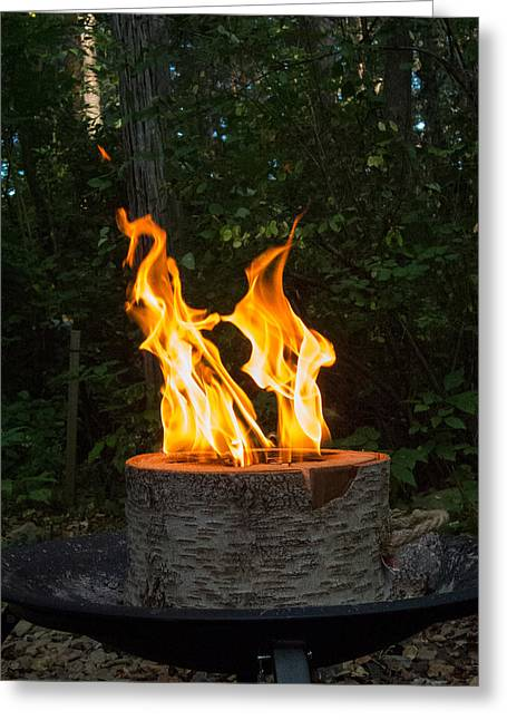 Firepit Greeting Cards - Flame-enco Dancers Greeting Card by Guy Whiteley