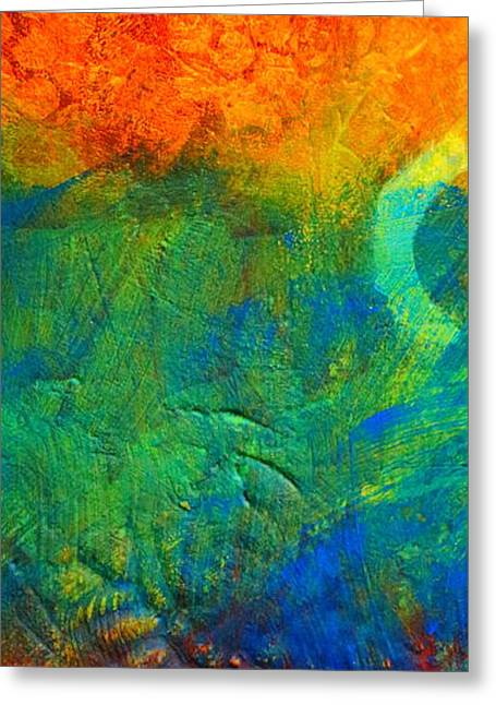 Thin Paintings Greeting Cards - Flame Greeting Card by Nancy Merkle