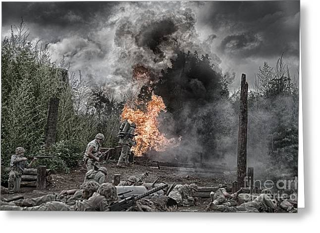 Ken Williams Greeting Cards - Flame of Victory Greeting Card by Ken Williams