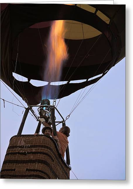 Rally Greeting Cards - Flame on Greeting Card by Jan Massie