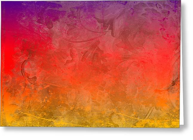 Colorful Digital Art Greeting Cards - Flame Greeting Card by Peter Tellone