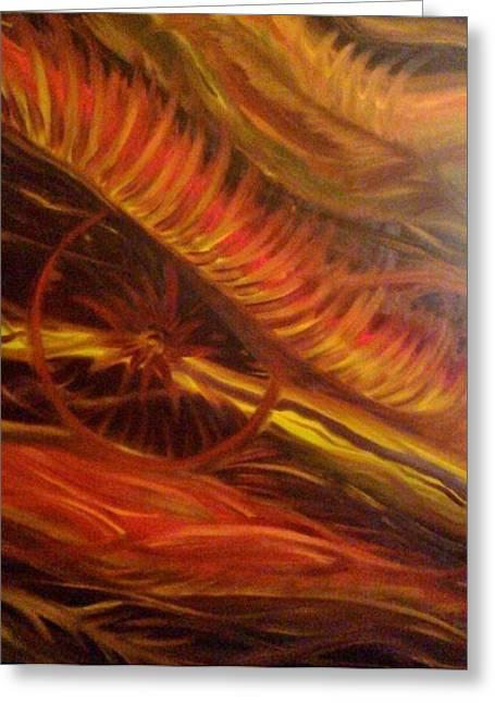 Flame Run Greeting Card by Adriana Garces