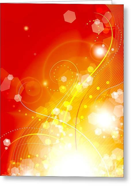 Flame Greeting Card by Sandra Hoefer