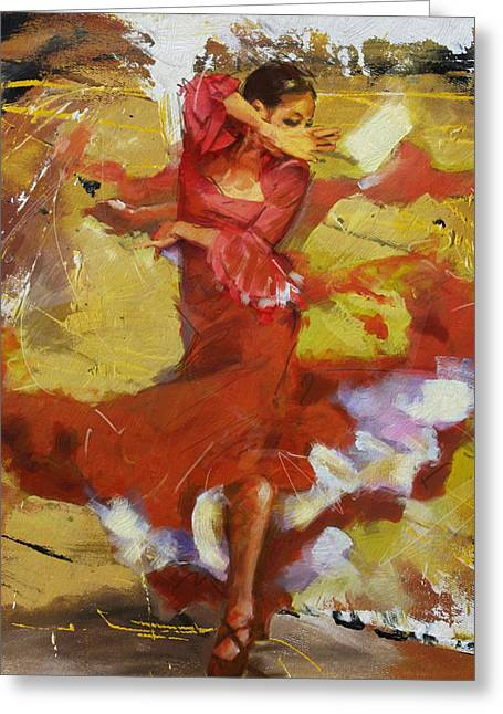 Flamenco 44 Greeting Card by Maryam Mughal