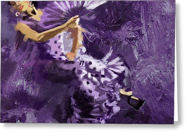 Flamenco Dancer 023 Greeting Card by Catf