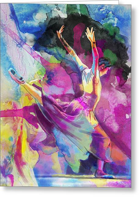 Dancer Art Greeting Cards - Flamenco Dancer Greeting Card by Catf