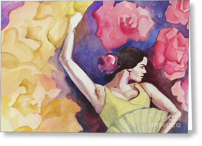 Duende Greeting Cards - Flamenco Dancer Greeting Card by Marta Lopez