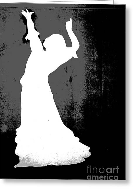 Enhanced Greeting Cards - Flamenco Dancer Greeting Card by Sophie Vigneault