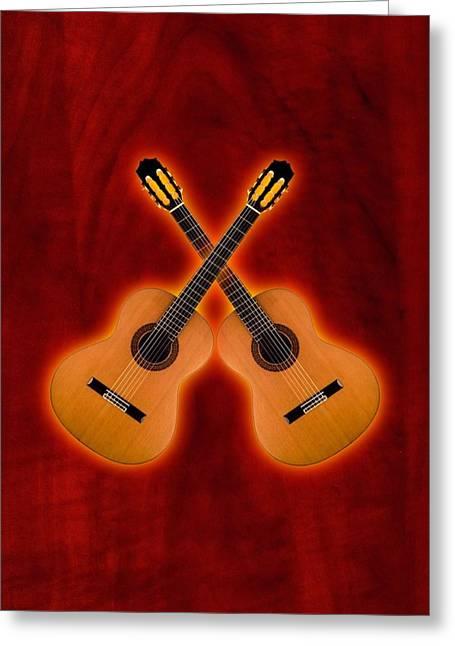 Flamenco  Guitar  Greeting Card by Doron Mafdoos