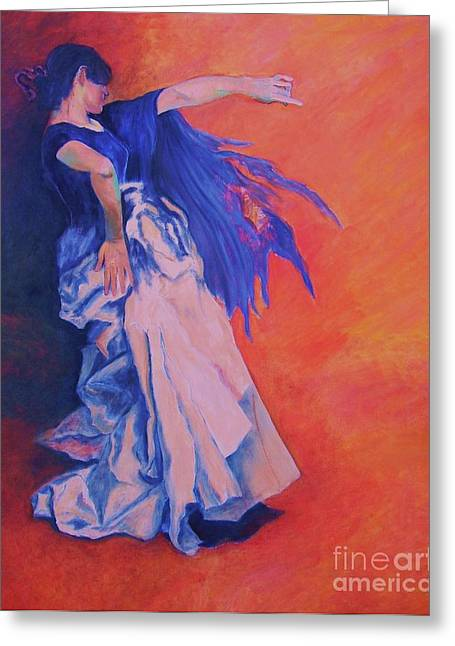 Dagmar Greeting Cards - FLAMENCO-John Singer-Sargent Greeting Card by Dagmar Helbig
