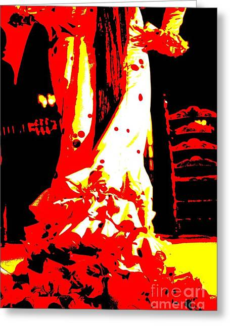Dancer Photographs Greeting Cards - Flamenco Passion Greeting Card by Sophie Vigneault