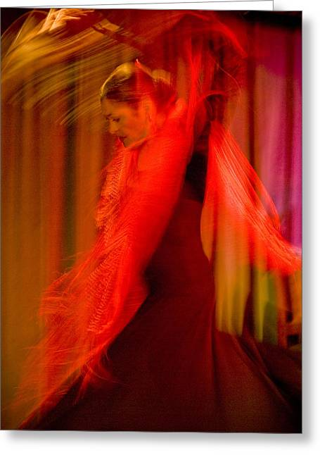 Duende Greeting Cards - Flamenco Series 10 Greeting Card by Catherine Sobredo