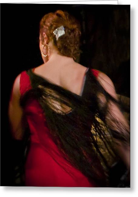 Duende Greeting Cards - Flamenco Series 6 Greeting Card by Catherine Sobredo