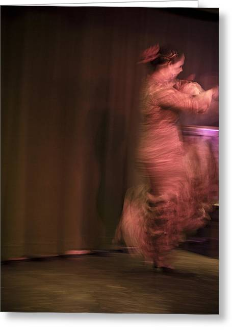 Duende Greeting Cards - Flamenco Series 8 Greeting Card by Catherine Sobredo
