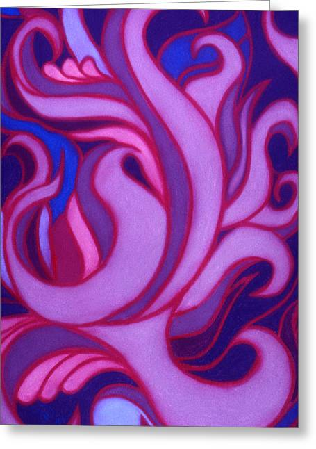 Flames Pastels Greeting Cards - Flames Greeting Card by Susan Will