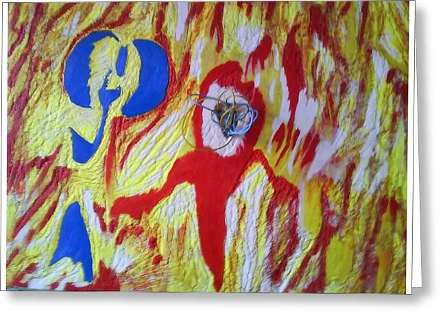 Flames Greeting Card by Trevor R Plummer