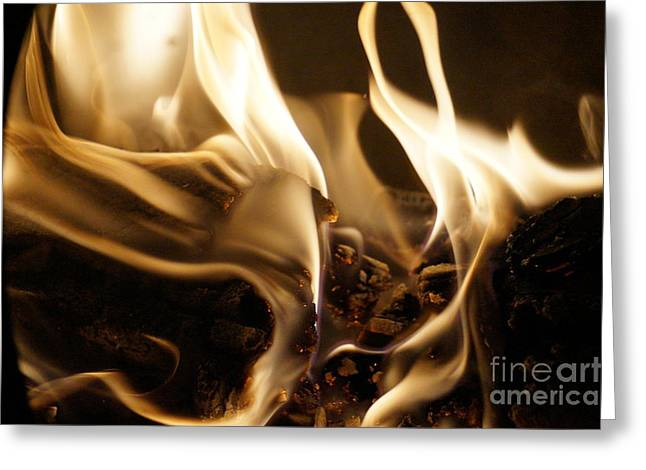 Flames Greeting Card by Zori Minkova
