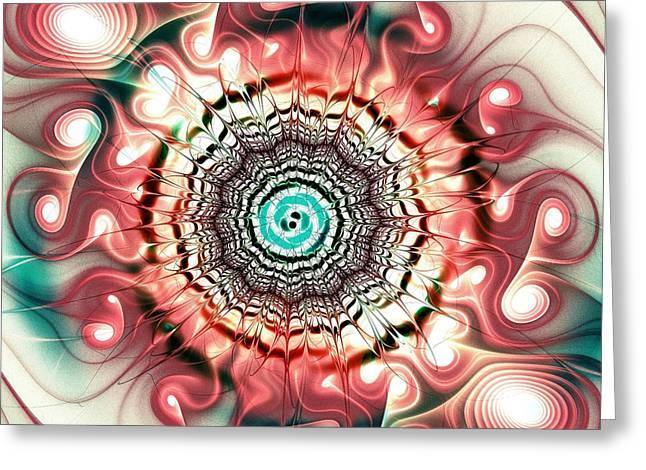 Flaming Greeting Card by Anastasiya Malakhova