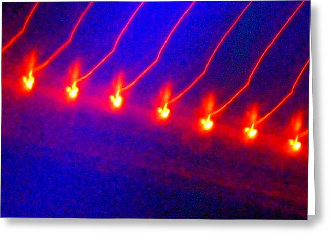 Ballet Of Colors Greeting Cards - Flaming Ballet In The Cosmos Greeting Card by James Welch