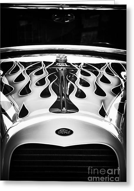 Ford Street Rod Greeting Cards - Flaming Cool Greeting Card by Tim Gainey