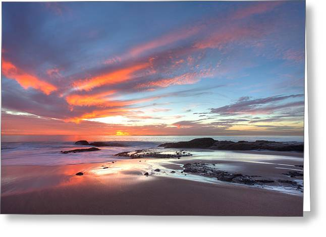 Yang Greeting Cards - Flaming Sky Greeting Card by Cliff Wassmann