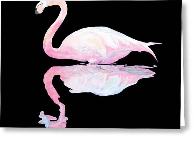 Ellenisworkshop Greeting Cards - Flamingo Greeting Card by Eric Kempson