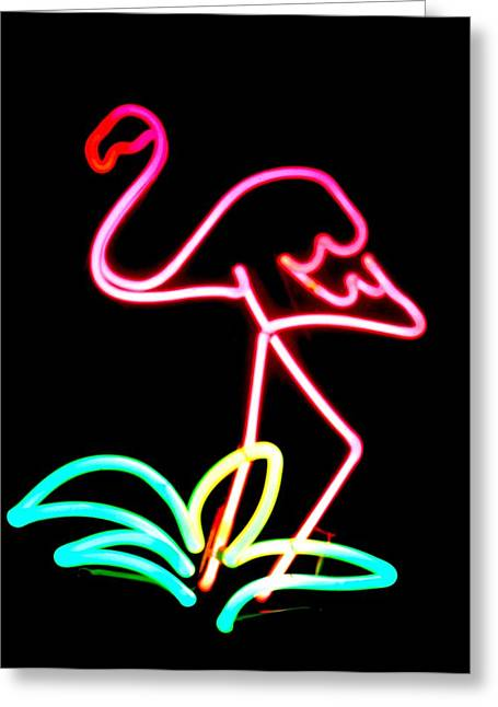 Birds Sculptures Greeting Cards - Flamingo Greeting Card by Pacifico Palumbo
